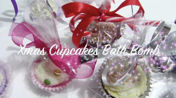 Cupcakes Bath Bomb ~ diy xmasgift