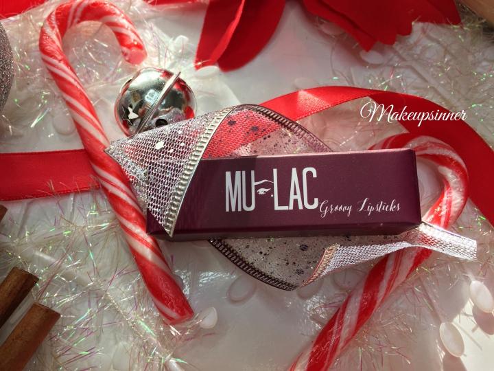 "Mulac ""Candy Cane"" Lipstick: review closeup"