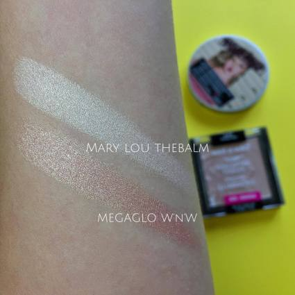 marylou manizer megaglo swatch highlighters