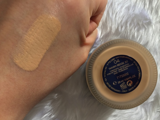 kiko foundation swatch warm beige 30.JPG