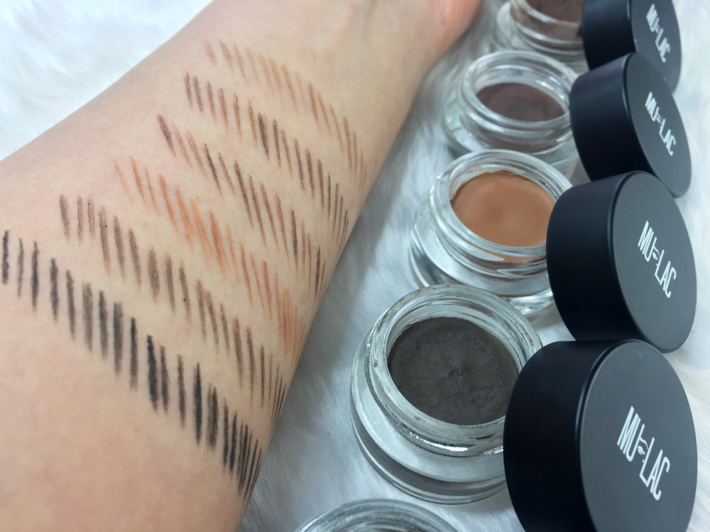 Mulac brow pot swatches