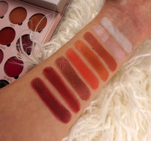 belle jorden palette swatches makeupsinner